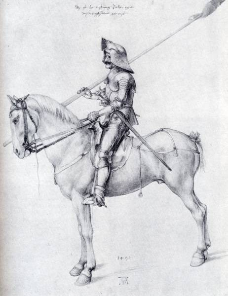 Durer Man In Armor On Horseback